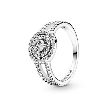 Sparkling Double Halo Ring, size 7.0