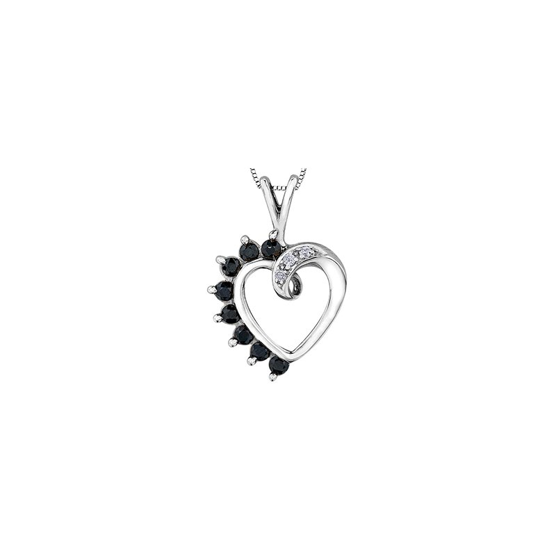 Forever Jewellery 10K Sapphire Heart Peandant