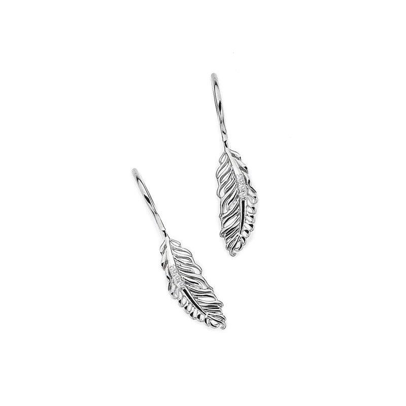 "White Ice ""Feather"" Diamond Earrings"