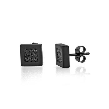 Black CZ Earrings