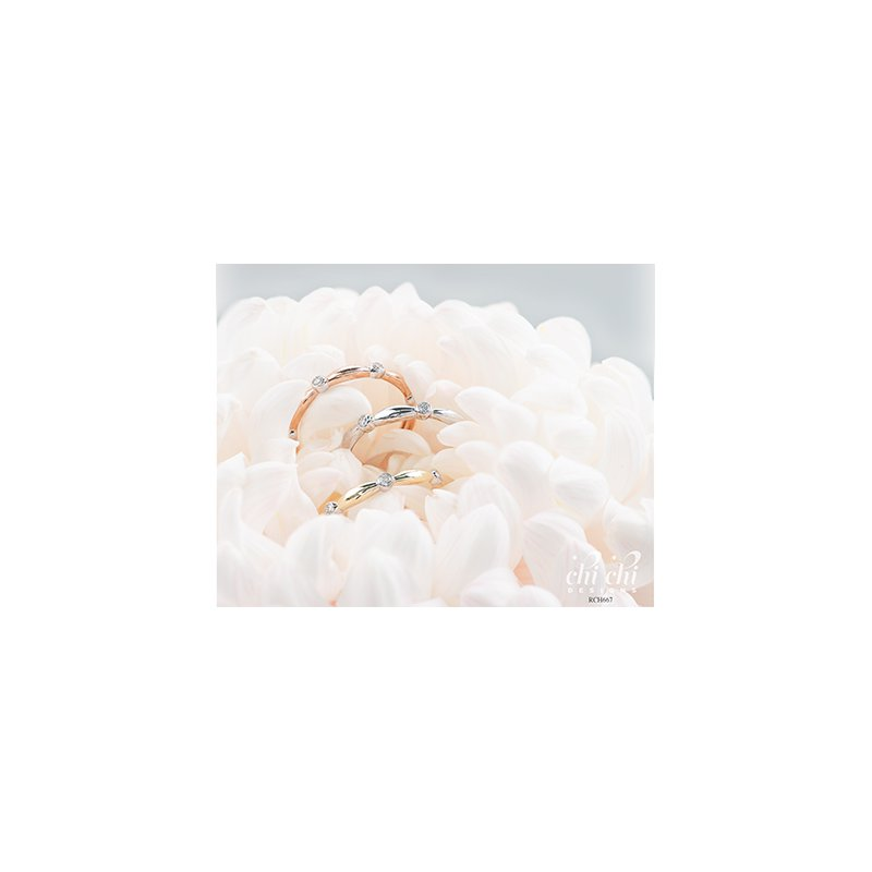 Chi Chi Designs 10k White Gold Diamond Band, 0.10 tdw