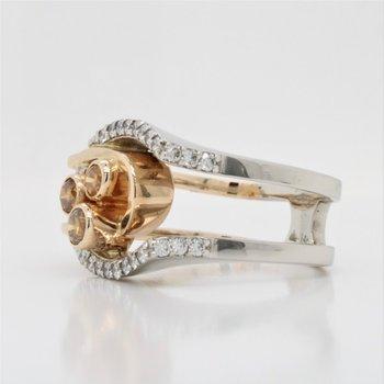 14k Yellow Diamond Ring, 0.87 TCW