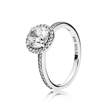 Round Sparkle Halo Ring, size 7.0