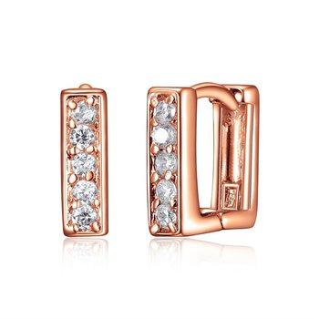 Small Silver Huggie Earrings