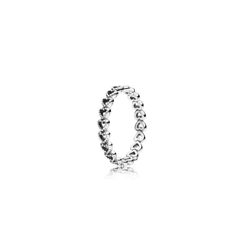 Pandora Band of Hearts Ring, size 6.0