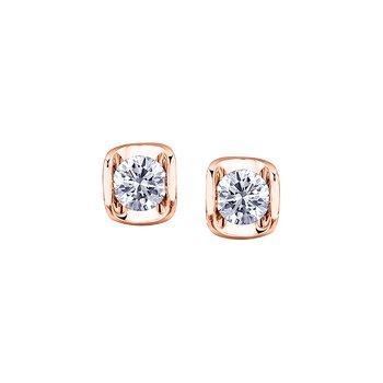 14K Diamond Stud Earrings, 0.15 TDW