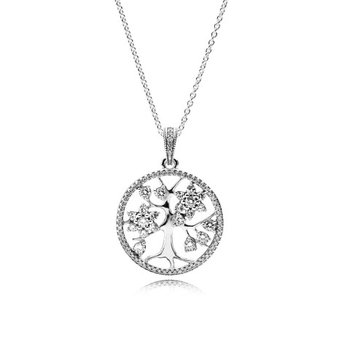 """Sparkling Family Tree Necklace, 31.5"""""""