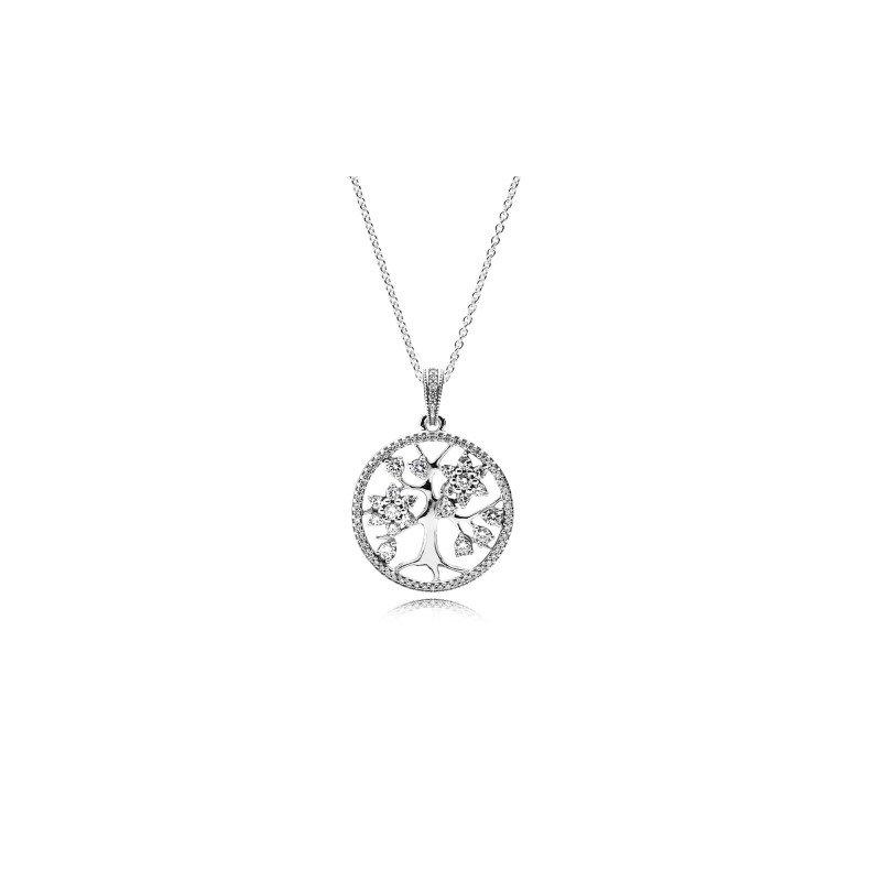 "Pandora Sparkling Family Tree Necklace, 31.5"""