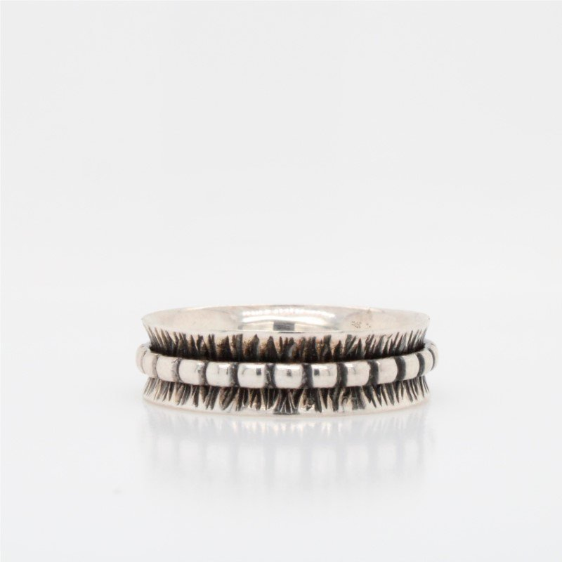 GNM Jewellery Collection Sterling Silver Spinner Ring