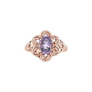 10K Lilac Amythest Ring