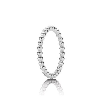 Eternal Clouds Beaded Ring, size 7.0