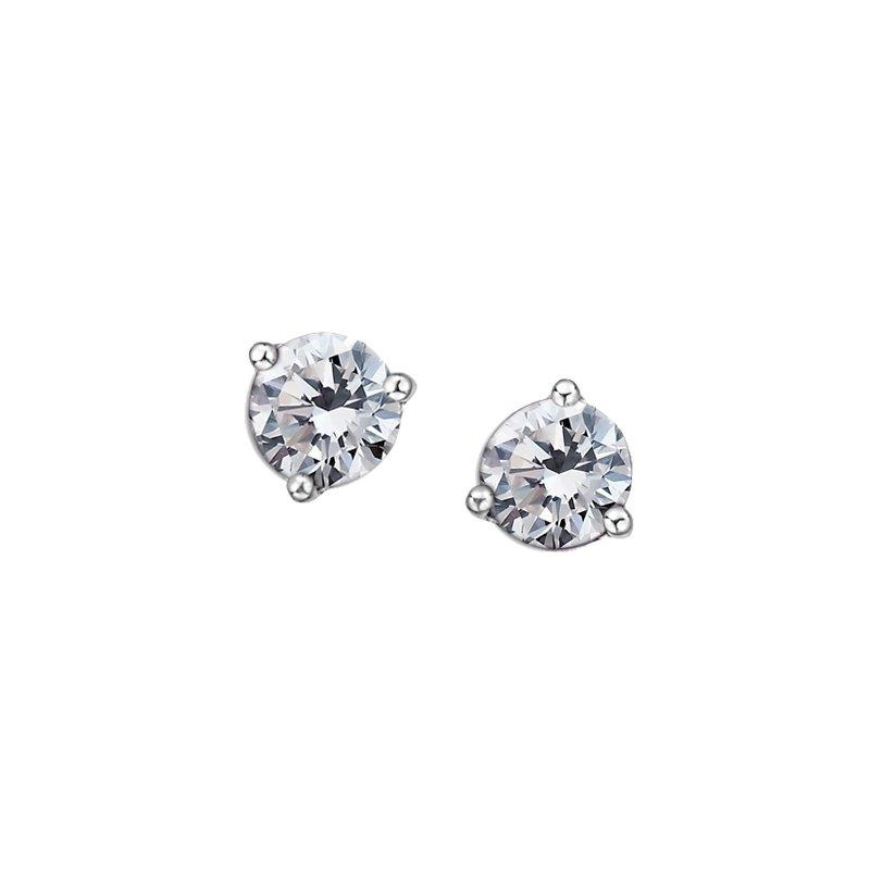 Diamond Days 10K April Birthstone earrings
