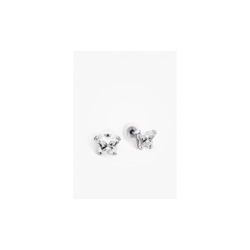 Bfly April Birthstone Earrings