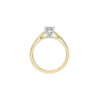 14K Lab Grown Diamond Engagement Ring, 0.51 TDW