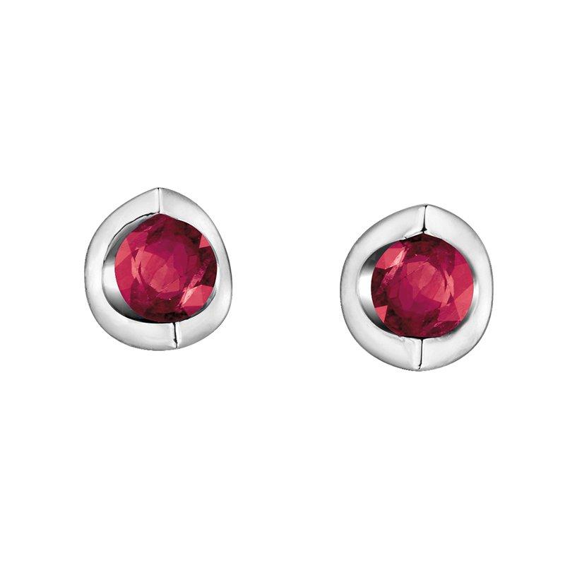 Diamond Days 10K Ruby Earrings
