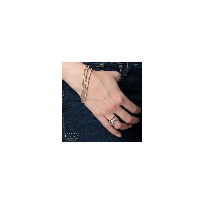 "Diamond Days 10K Diamond Tennis Bracelet, 2.00 TDW 7.5"""
