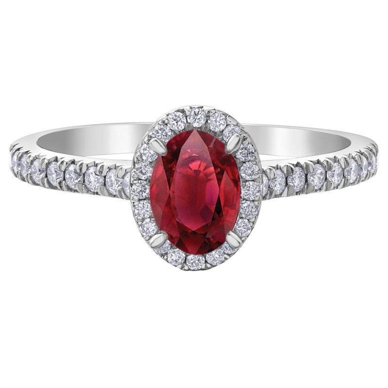 Diamond Days 10K Ruby & Diamond Halo Ring