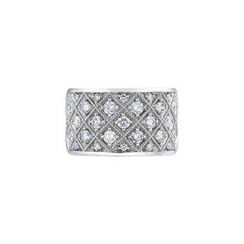 1 ct wide diamond band