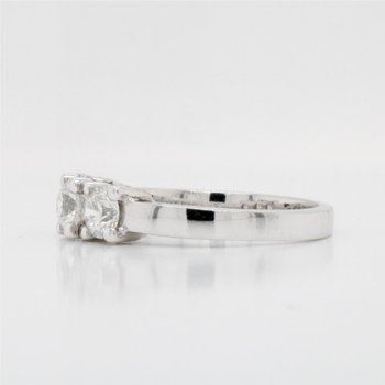 14K Thre Stone Diamond Ring, 1.02 TCW