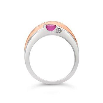 Frank Reubel Pink Sapphire & White Topaz Ring
