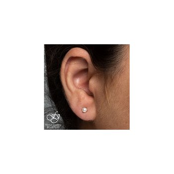 10K Pearl Earrings, 4 MM