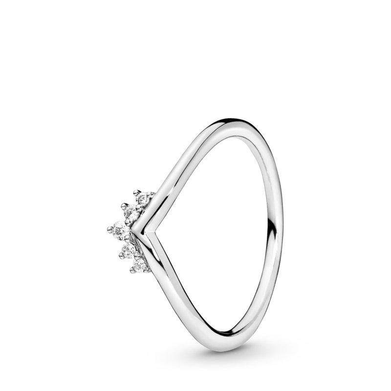 Pandora Tiara Wishbone Ring, size 7.5