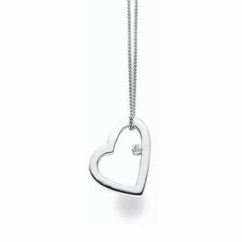 """Love Heart"" Diamond Pendant"