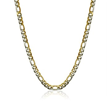 Two Tone Figaro Link Chain