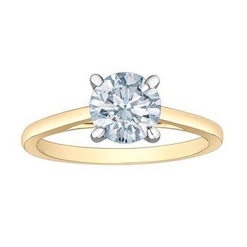 14K Lab Grown Diamond Engagement Ring, 1.00 TDW