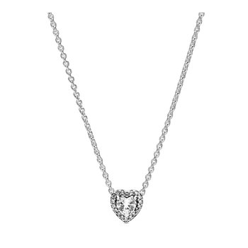 """Elevated Heart Necklace, 17.7"""""""