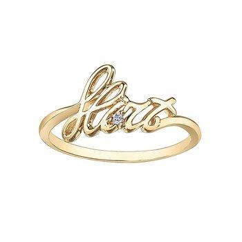 "10K ""Flirt"" Fashion Ring"