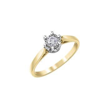 10k Yellow Gold Diamond Ring 0.07ct