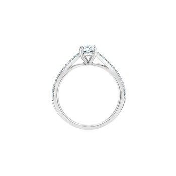 14K Lab Grown Diamond Engagement Ring, 0.90 TDW