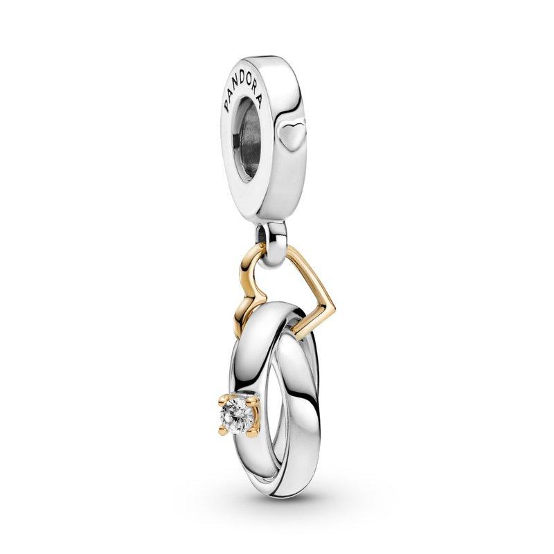 Pandora Two-tone Wedding Rings Dangle Charm