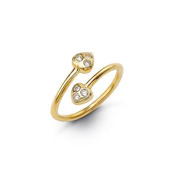 10K Pebbles Toe Ring