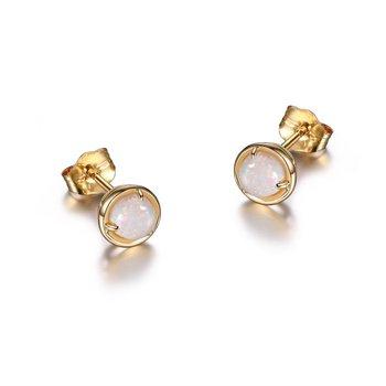 10K Gold October Birthstone Earrings