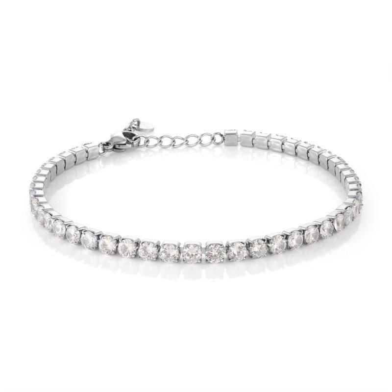 Italgem CZ Adjustable Tennis Bracelet