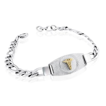 2-Tone IP Medical Bracelet
