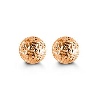10KR 5mm Cosmo Stud Earrings