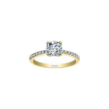 14K Diamond Engagement Ring, 0.33 TDW
