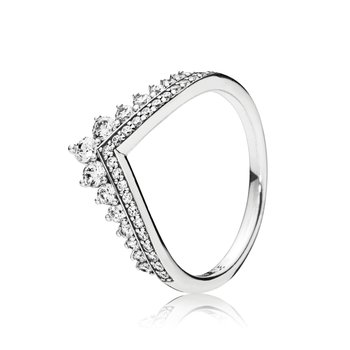 Princess Wishbone Ring, size 2.5