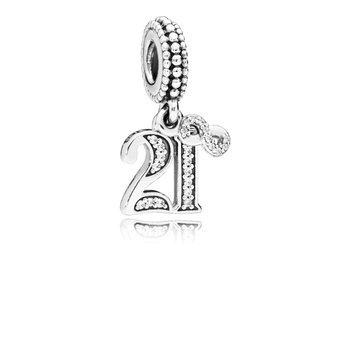 21st Celebration Dangle Charm