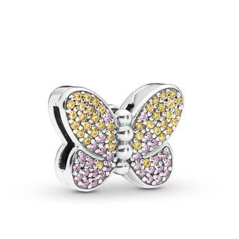 Reflexions, Pavé Butterfly Clip Charm - FINAL SALE
