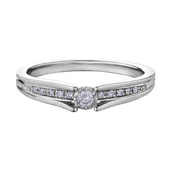 10K Engagement Ring, 0.10 TDW