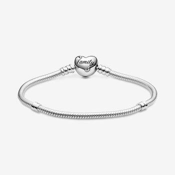 """Family Tree Heart Clasp Bracelet, 7.9"""""""