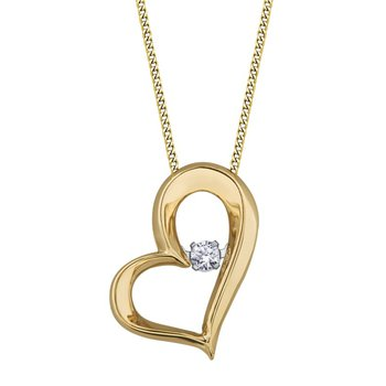 10k Yellow Gold Pulse Diamond Pendant