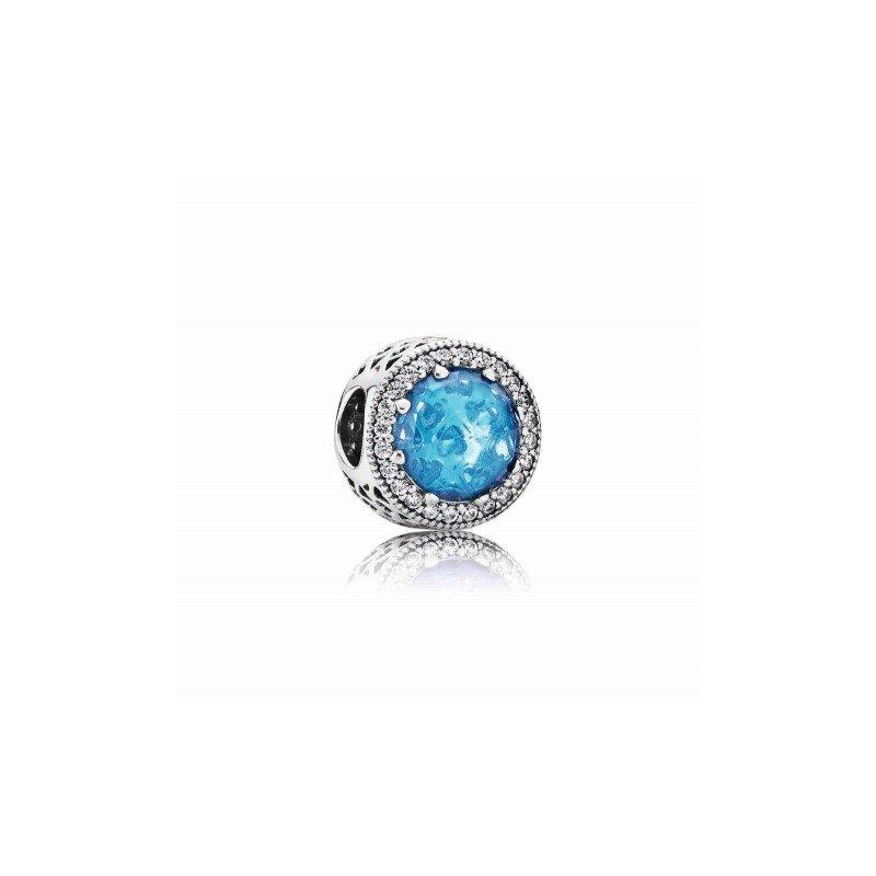 Pandora Sky Blue Radiant Hearts Charm