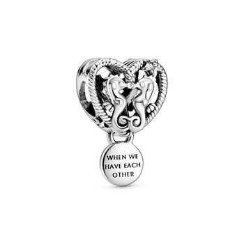 Openwork Seahorses Heart Charm - Limited Quantity