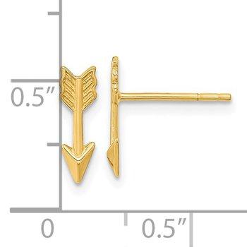 14KY Arrow Post Earrings