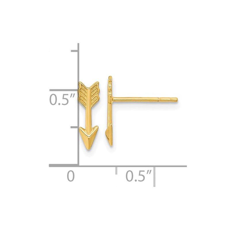 Quality Gold 14KY Arrow Post Earrings
